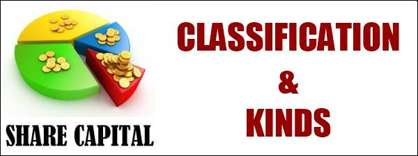 Kinds and Classification of Share Capital